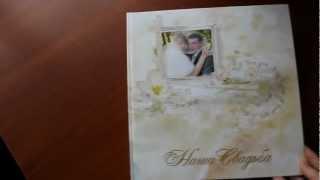 Презентация свадебной фотокниги(SlimBook формата 30х30 * 20 разворотов * Раскрытие на 180 градусов * Твёрдая ламинированная обложка с Вашим изображе..., 2013-01-21T19:47:33.000Z)