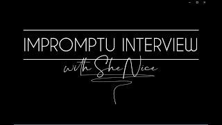 Impromptu Interview | TWEET's Daughter, Shenice!