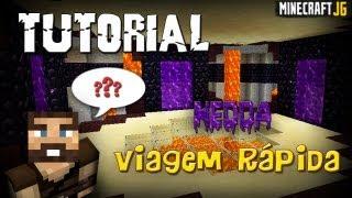Minecraft Tutorial - Viagem Rápida Usando Portais do Nether (É o NEDDA!)