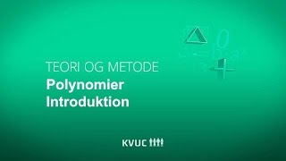 Polynomier introduktion