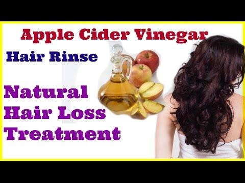 Apple Cider Vinegar Hair Rinse-Natural hair loss treatment -grow faster hair-How to make & use-