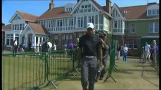 Tiger Woods  Tees off with Lee Westwood, Day Three Muirfield