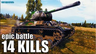 14 ФРАГОВ World of Tanks 🌟 Малиновка бой на лт Т-50-2