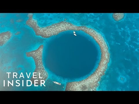 Dive Inside A Giant Blue Hole Off The Coast Of Belize