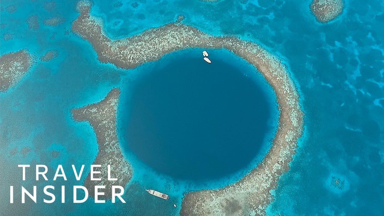 Dive Inside A Giant Blue Hole Off The Coast Of Belize