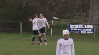 Greg Matheson scores to make it Lovat 4 Kinlochshiel 0 on 2nd March 2019 Mowi Premiership