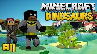 Minecraft Dinosaurs Mod (Fossils and Archaeology) Survival Series, Episode 11 - Triceratops Tradegy!