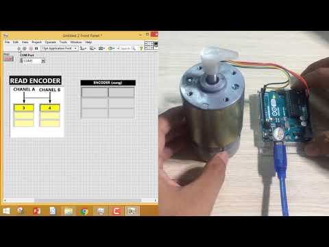 iCode4Arduino - hướng dẫn thu thập tín hiệu cảm biến Encoder
