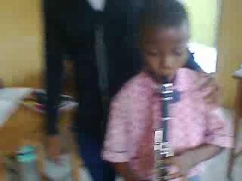 I'm acknowledging you (chorus by Lara George) on Clarinet