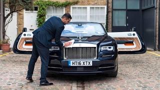 Driving a Rolls Royce Dawn in London