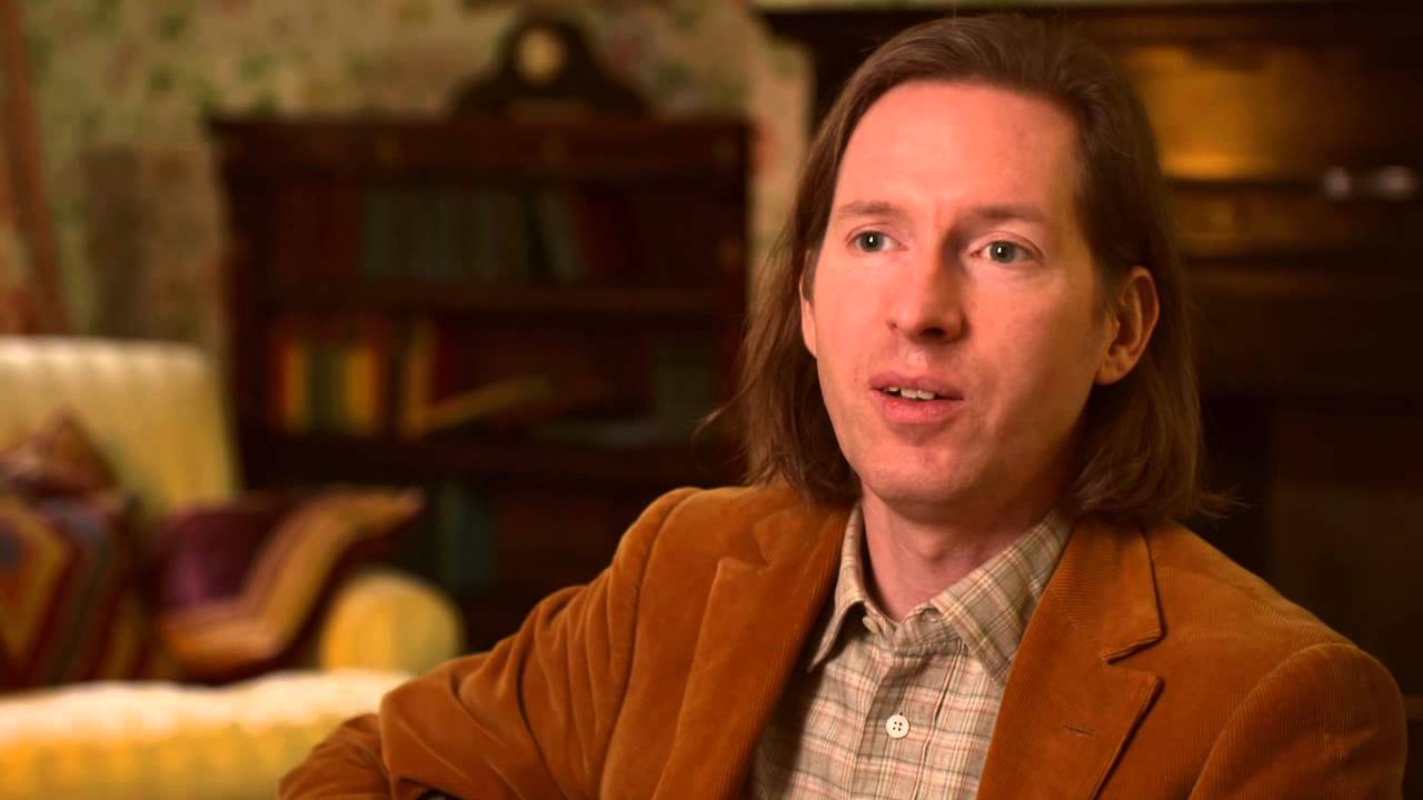 the grand budapest hotel director wes anderson on set