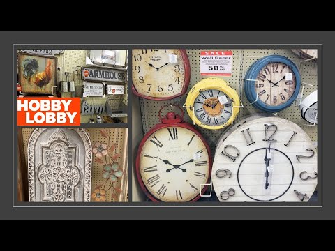 Hobby Lobby Rustic Wall Clock & Decor 50% OFF | Shop With Me March 2019 Farmhouse Home Decor
