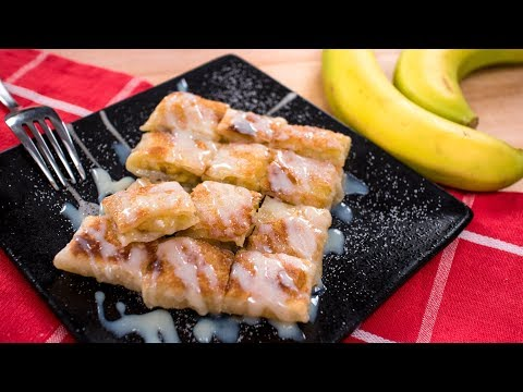 Thai Banana Pancake Recipe (Thai Roti) โรตีกล้วยหอม | Thai Recipes