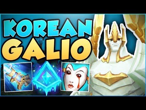 HOW RIDICULOUS IS THIS KOREAN GALIO BUILD? KOREAN GALIO SEASON 8 TOP GAMEPLAY! - League of Legends