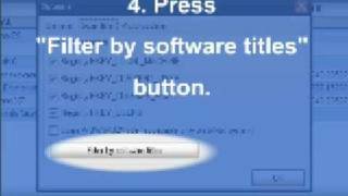 How to filter results in Recover Keys by software title