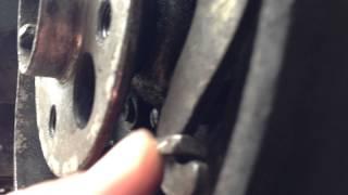 Ручной тормоз (трос с пружиной) трется в заднем левом колесе ВАЗ 21063