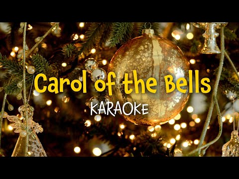 Carol of the bells (instrumental with lyrics - karaoke video)