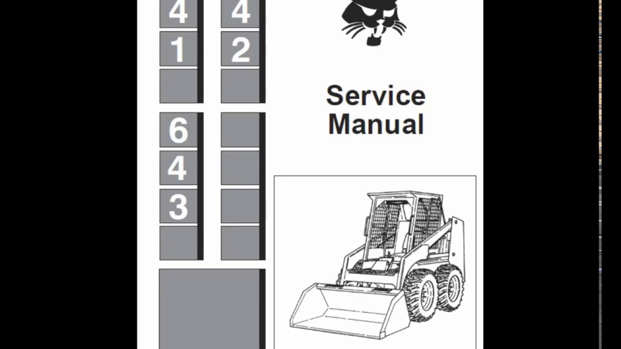 Bobcat 641  642 And 643 Skidsteer Loader Service Manual