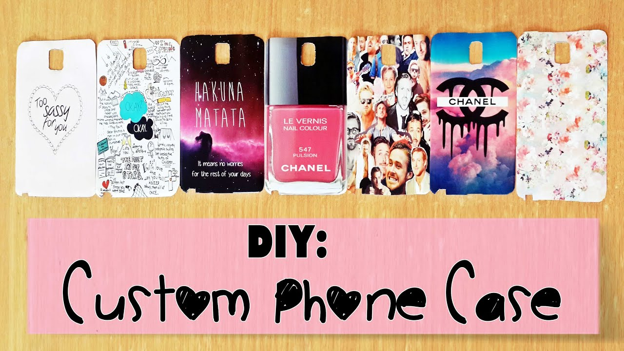 Diy custom phone case youtube for How to make phone cases at home
