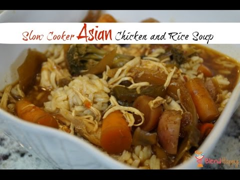 Slow Cooker Asian Chicken And Rice Soup
