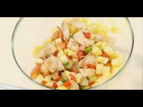 Салат из куриной грудки, перца и помидоров рецепт  шеф-повара / Илья Лазерсон