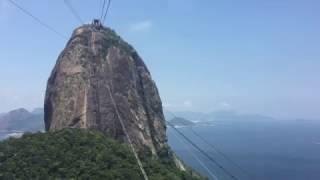 Подъем на канатной дороге к горе Сахарная голова в Рио-де-Жанейро 29 декабря