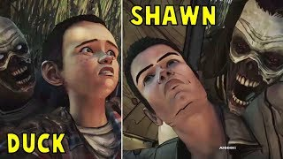 Save Shawn vs Save Duck -All Choices- The Walking Dead