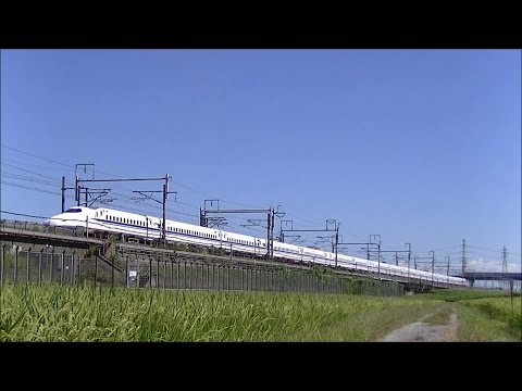 【Shinkansen】 run through under the clear autumn sky !