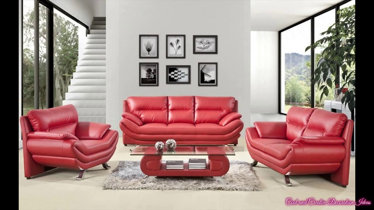 Living Room Decorating Ideas Leather Couches Apartment Therapy Tv Red Couch Youtube