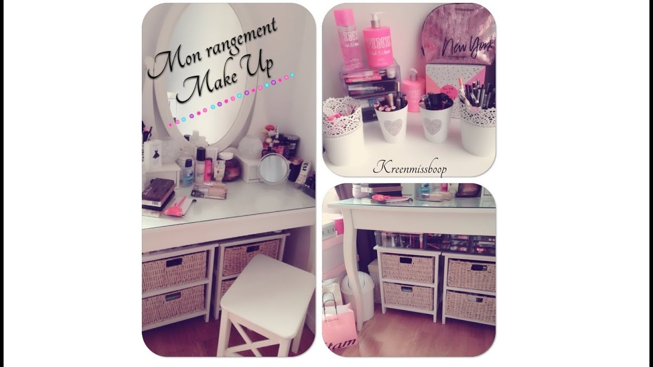 rangement maquillage juillet 2015 make up storage youtube. Black Bedroom Furniture Sets. Home Design Ideas