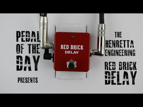 Henretta Engineering Red Brick Delay Guitar Effects Pedal Demo Video