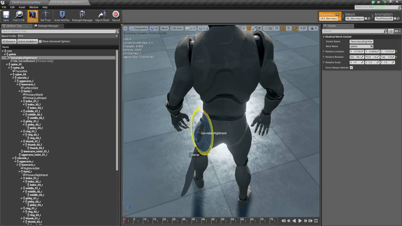 Unreal Engine 4 - Adding Animations - Draw/Sheath Weapons (Part 29)