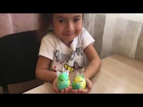 Радужные яйца ЕДИНОРОГИ.Как красиво покрасить Пасхальные яйца