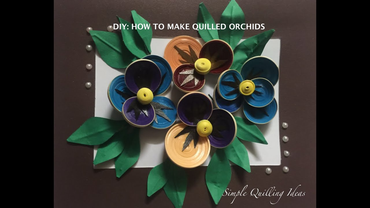 Arts And Crafts : DIY Quilled Pansy Flowers - YouTube - photo#49