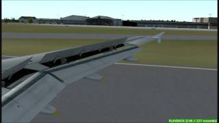 -FS2004- Swiss A319 landing at Luxembourg Airport