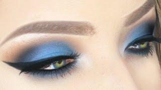 Electric BLUE Eyeshadow + Winged Liner for Hooded Eyes | Stephanie Lange