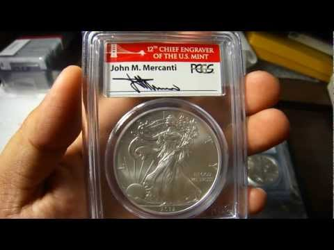 2012 San Francisco PCGS Certified Coin -  Signed by John M. Mercanti.