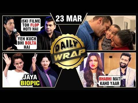 Kangana As Jayalalithaa, Deepika Padukone Angry, SRK Defends Karan Johar | Top 10 News