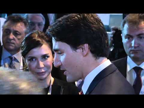 Canada's PM Justin Trudeau takes selfies at L20  B20 Summit in Turkey's Antalya