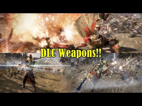 Dynasty Warriors 9 News!!-Twin Flame Sword, Snake Spear and Curved Kitana DLC Weapons Revealed!!