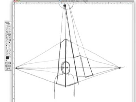 Drawing Tutorials Online Three Point Perspective Youtube