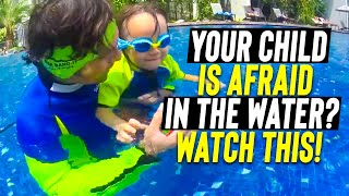 How to teach a swim lesson with kids scared to put eyes in the water