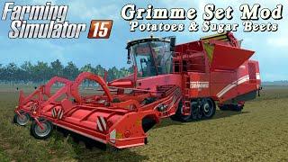 Farming Simulator 2015 mod harvester Grimme Set