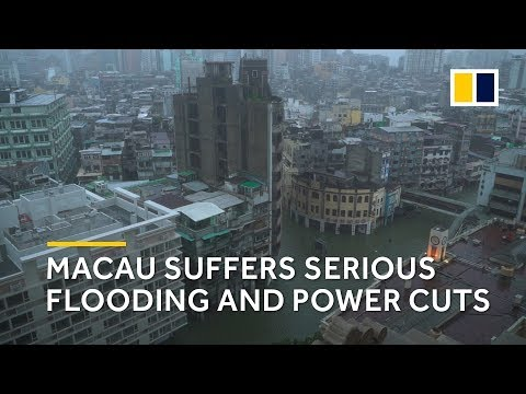 Typhoon Mangkhut: Macau suffers serious flooding and power cuts