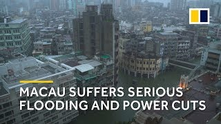 Typhoon Mangkhut: Macau suffers serious flooding and power cuts thumbnail