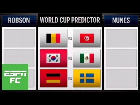 Predicting a big day at the 2018 World Cup (Mexico vs. South Korea, Germany vs. Sweden) | ESPN FC