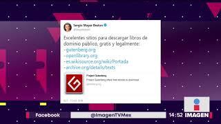 Sergio Mayer promueve lectura en sitio de libros piratas e ilegales| Noticias con Yuriria