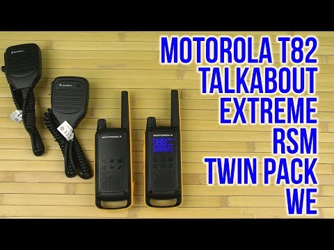 Распаковка Motorola Talkabout T82 Extreme RSM Twin Pack WE B8p00811ydzmag