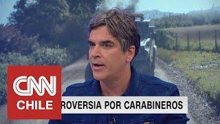 Gonzalo Fuenzalida analizó la controversia que está atravesando Carabineros