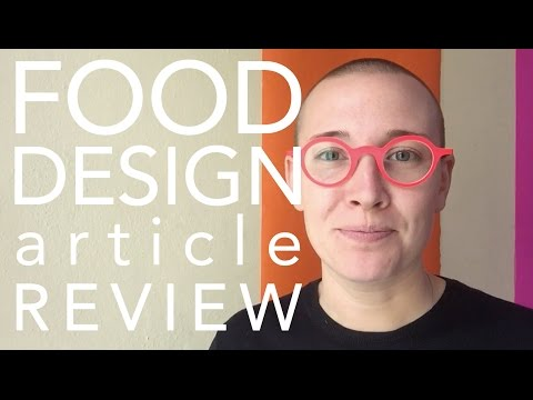 Experience-Centric Services | Food Design Article Review